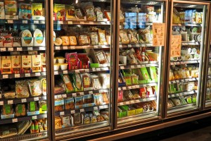 Refrigerators full of products
